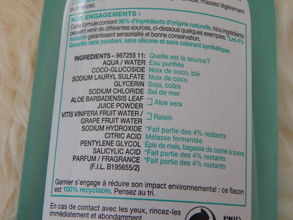 revue gel nettoyant rafraichissant garnier skinactive aloe vera