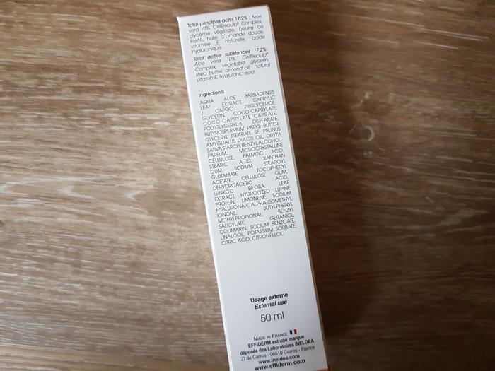 premières impressions crème effiderm ineldea