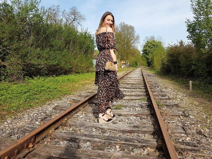 look printemps tendance bohème robe longue