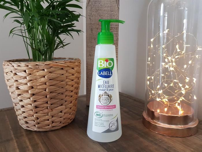test et avis shampooing et eau micellaire labell bio