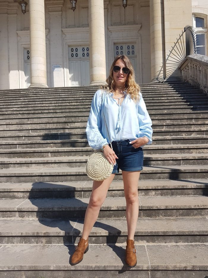 look casual de printemps blouse bohème
