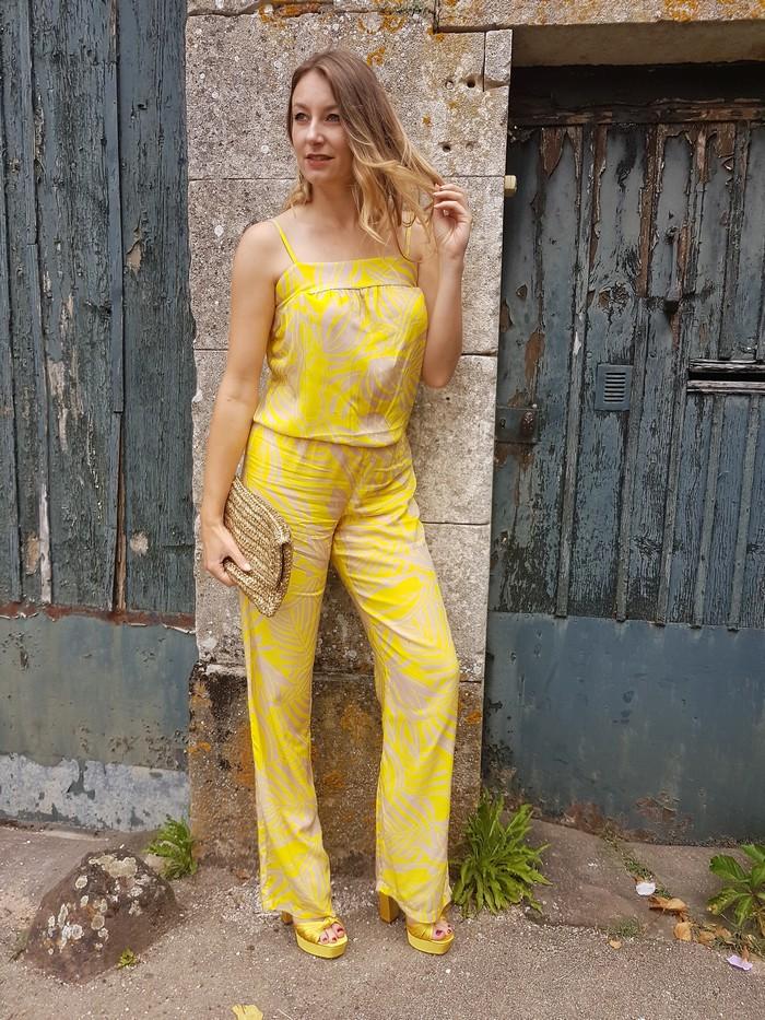 look combinaison jaune été grain de malice
