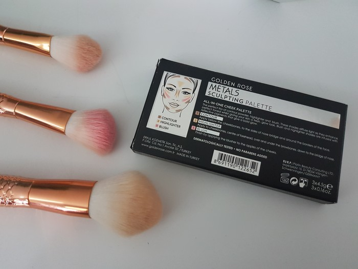 test de la metals sculpting palette cookie's make up