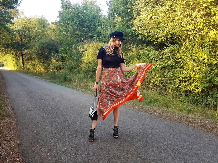 tendance imprimé foulard