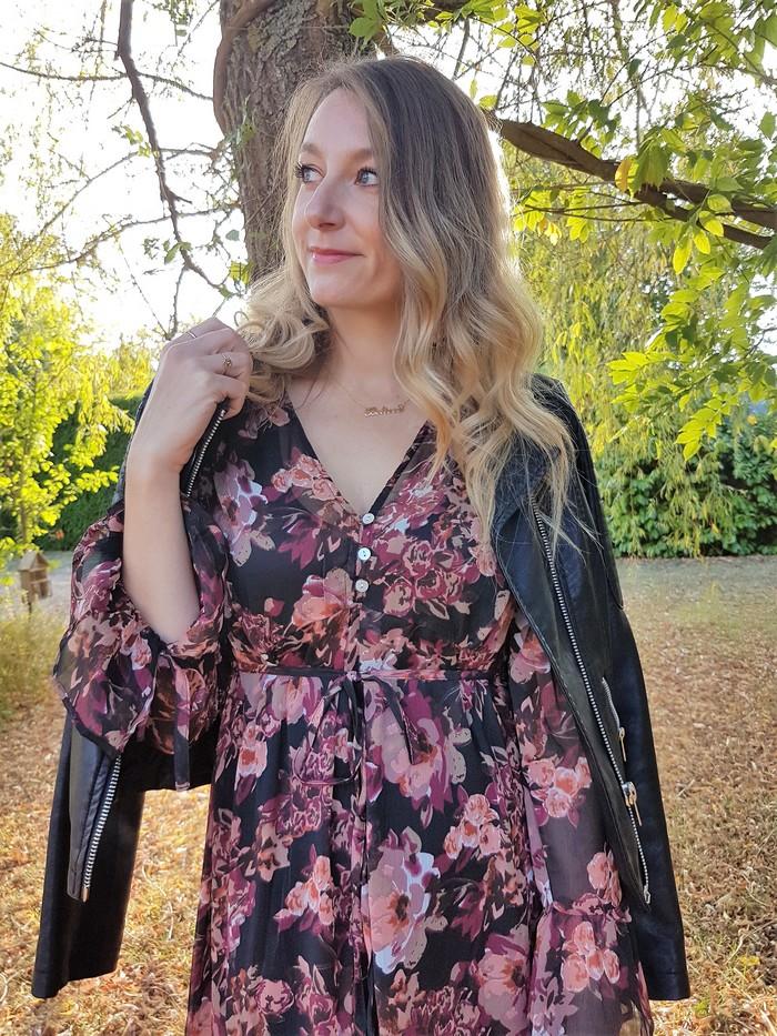 comment porter sa robe longue bohème en automne