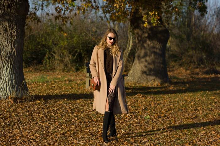 Look d'automne: Camel coat et léopard