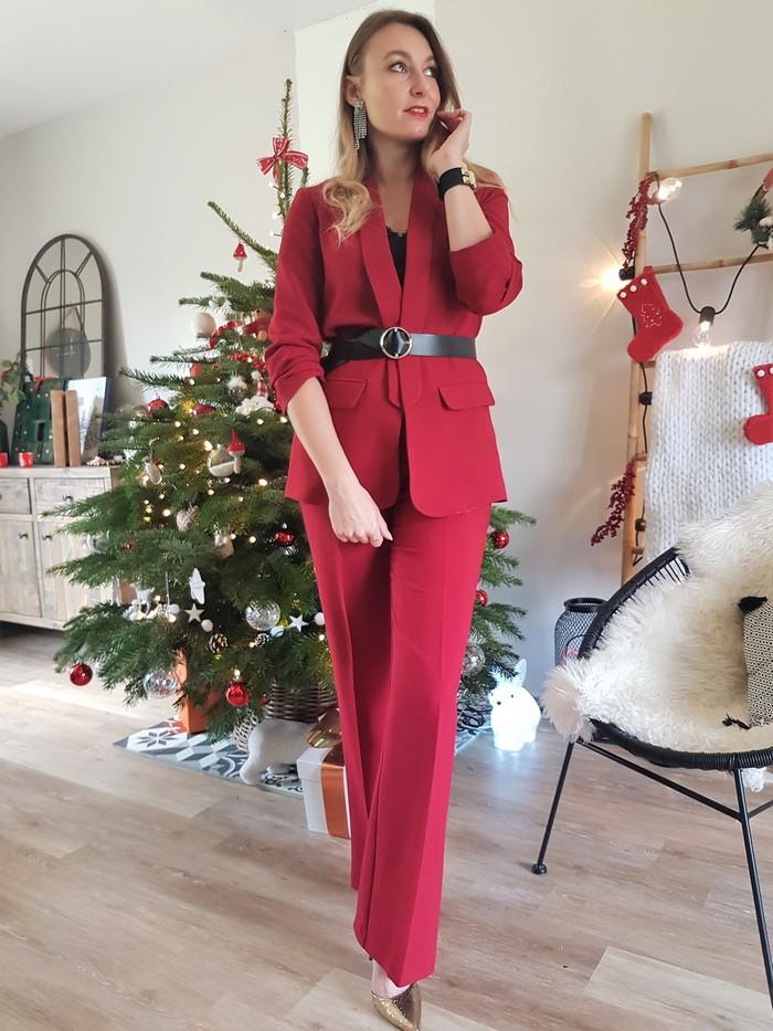 tailleur pantalon rouge kiabi