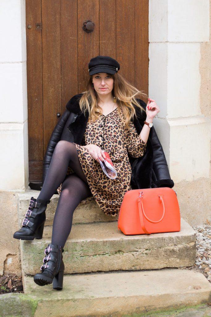 robe léopard