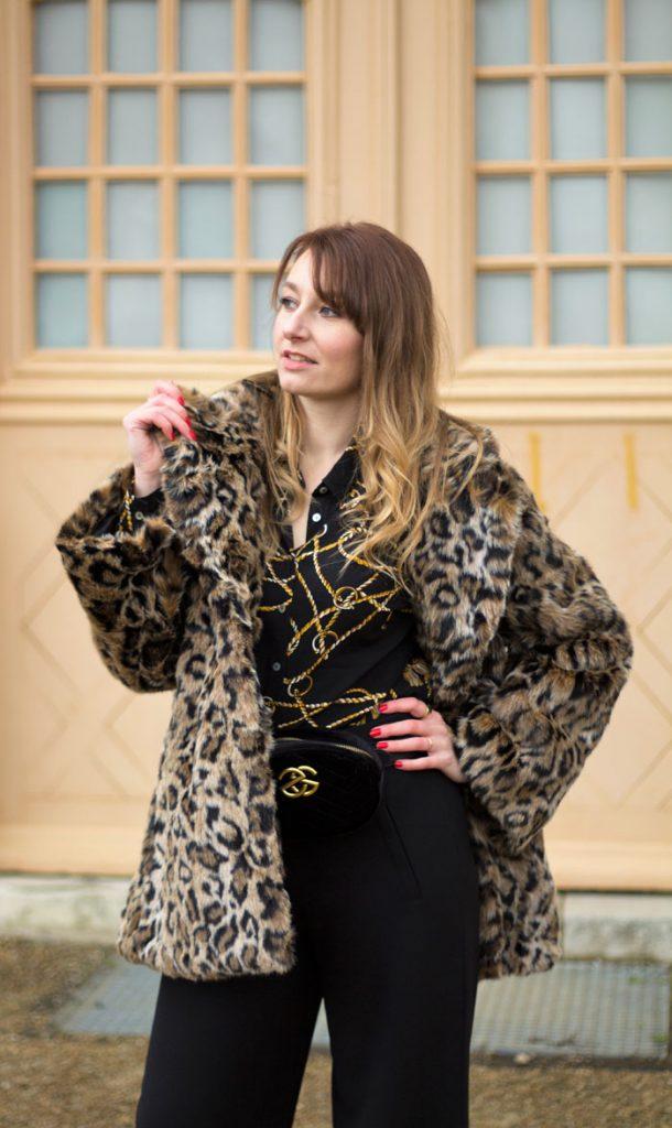 fausse fourrure leopard