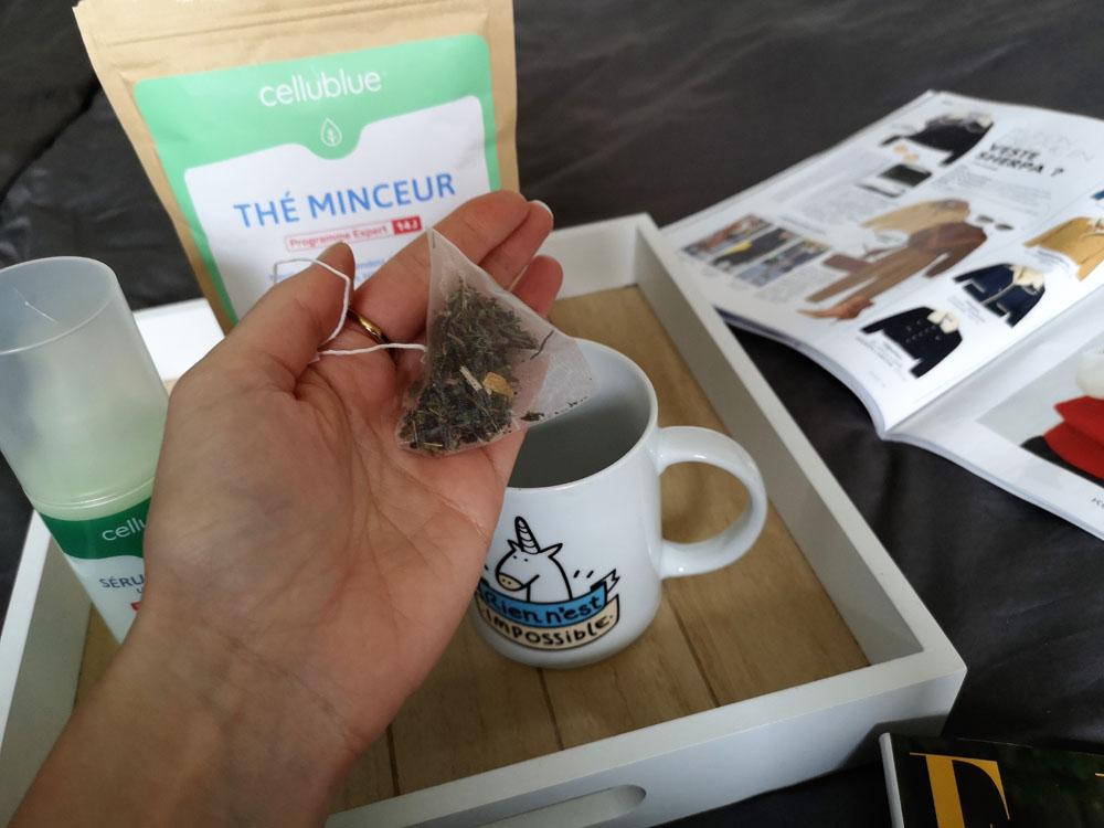 thé et sérum minceur cellublue