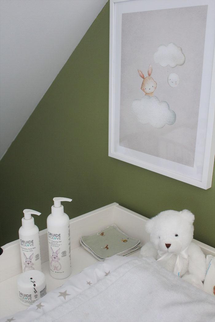 décoration lapin chambre de bébé
