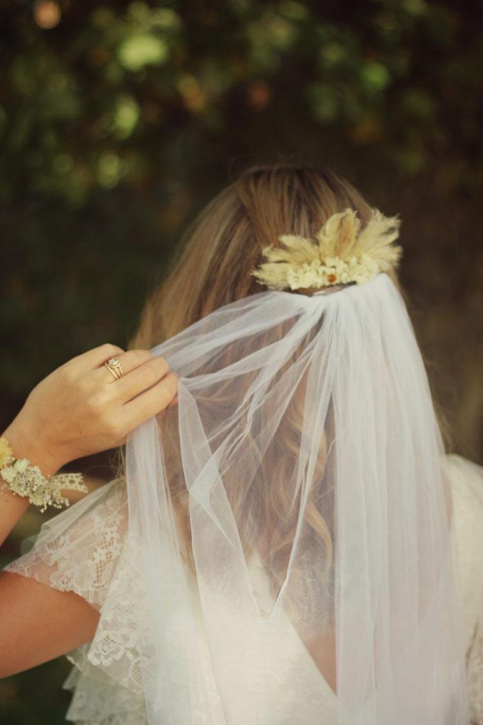 mariage bohème fleurs séchées