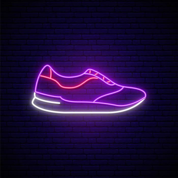 chaussures fluo